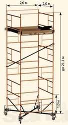 Лестница строительная типа тура